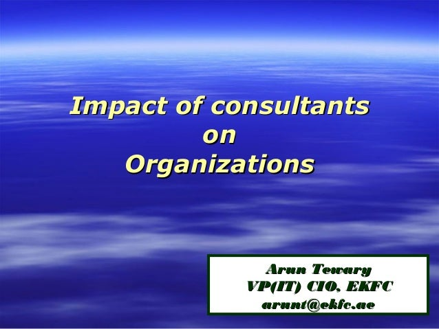 Arun Tewary, VP & CIO at Emirates Flight Catering - Impact of consultants on IT organisations