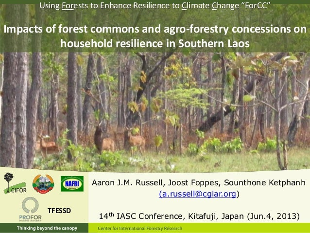 Aaron J.M. Russell, Joost Foppes, Sounthone Ketphanh(a.russell@cgiar.org)14th IASC Conference, Kitafuji, Japan (Jun.4, 201...