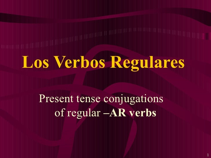 AR VERB CONJUGATION