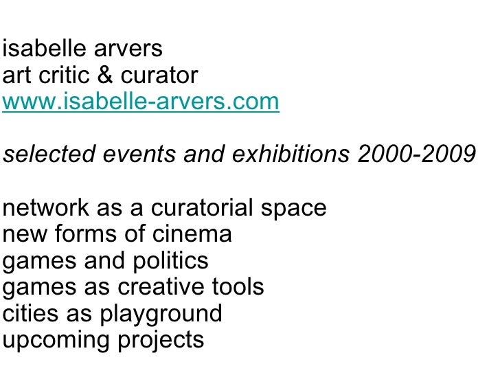 Isabelle Arvers, art & games curator