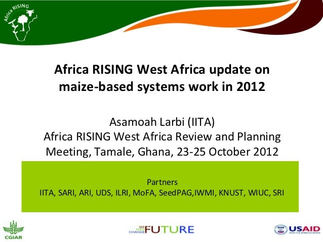Africa RISING West Africa update on    maize-based systems work in 2012             Asamoah Larbi (IITA)Africa RISING West...