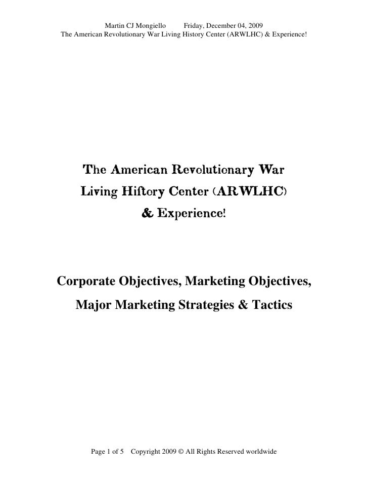 Martin CJ Mongiello      Friday, December 04, 2009 The American Revolutionary War Living History Center (ARWLHC) & Experie...