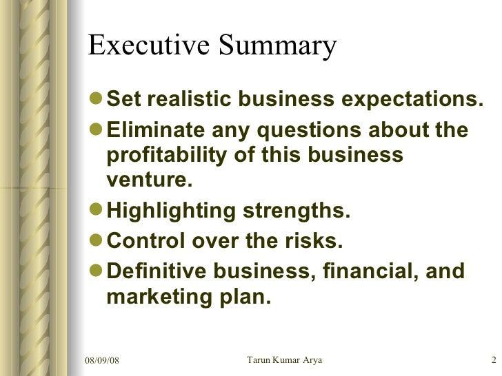 executive summary nursing