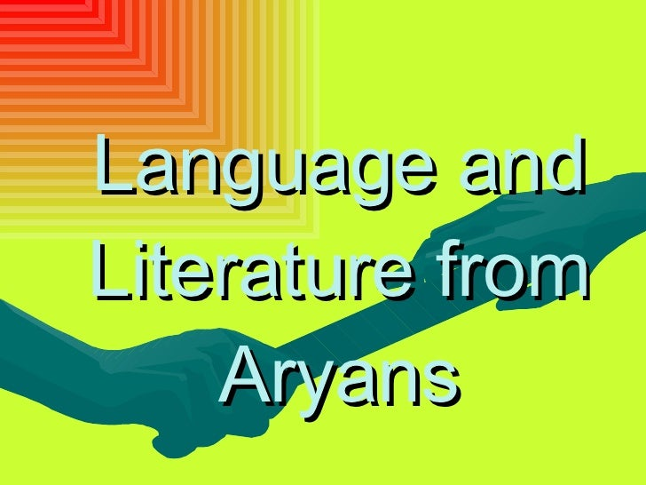 Language and Literature from Aryans