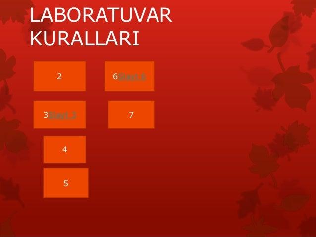 LABORATUVAR KURALLARI 2 3Slayt 3 4 5 6Slayt 6 7