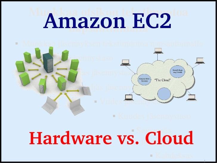 Amazon EC2 hardware vs Cloud