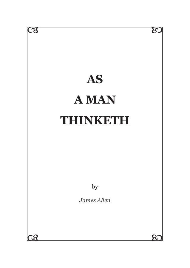 As A Man-Thinketh