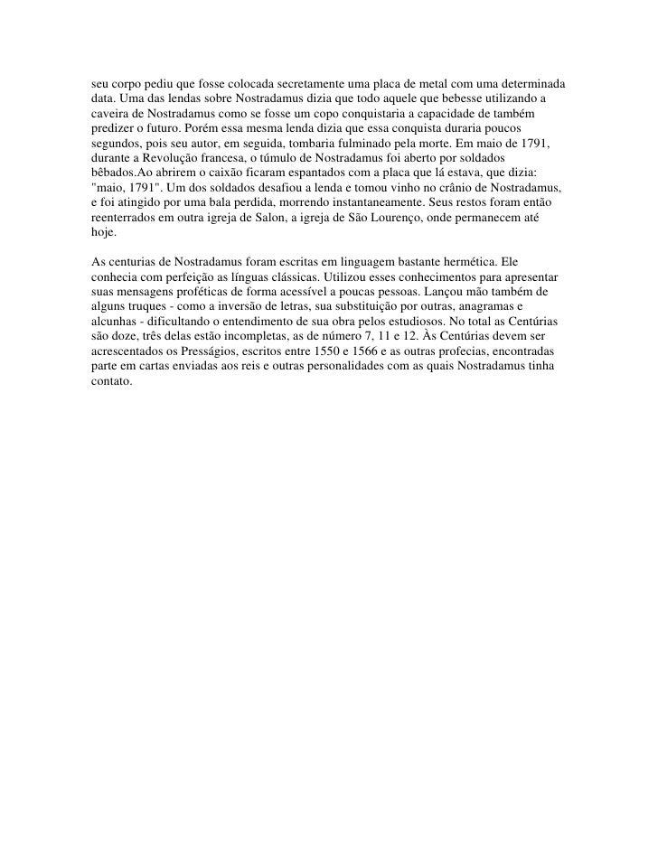 Libro Nostradamus Profecias PDF ePub - LibrosPub
