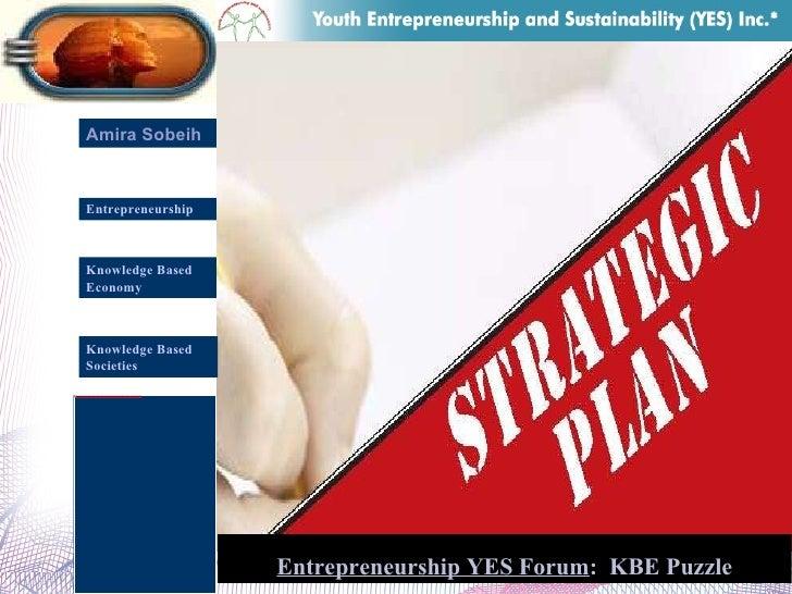 Amira Sobeih Entrepreneurship Knowledge Based  Economy Entrepreneurship YES Forum :  KBE Puzzle Knowledge Based  Societies