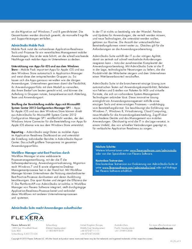 AdminStudio Mobile Pack Datasheet