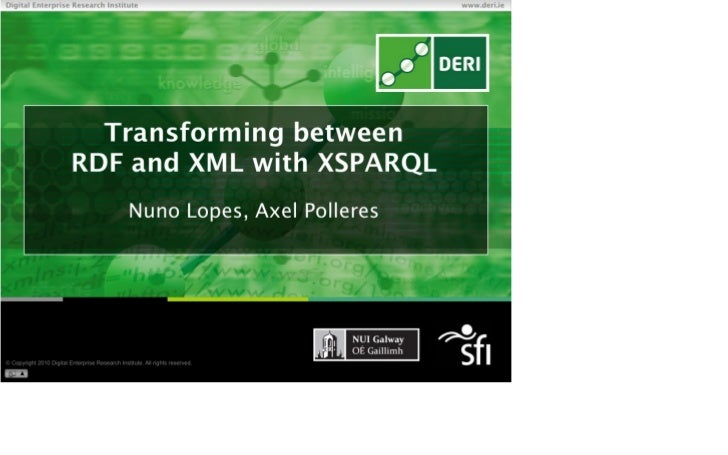 Transforming between XML and RDF with XSPARQL