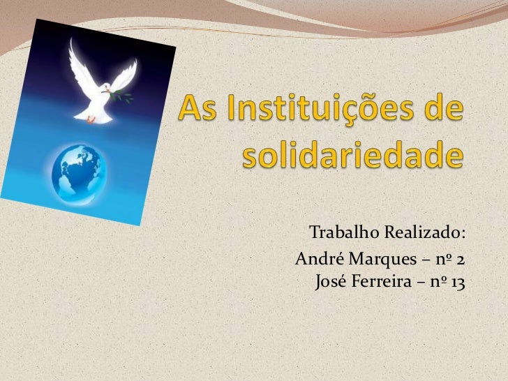 As organizações de paz