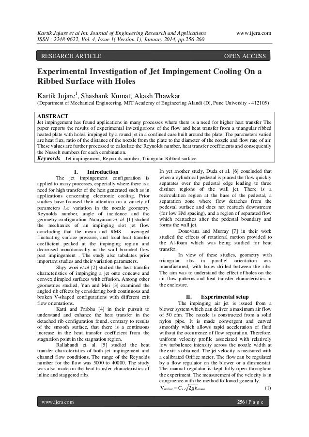 Kartik Jujare et al Int. Journal of Engineering Research and Applications ISSN : 2248-9622, Vol. 4, Issue 1( Version 1), J...