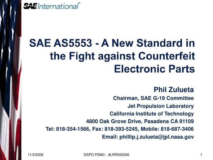Phil Zulueta                                        Chairman, SAE G-19 Committee                                          ...