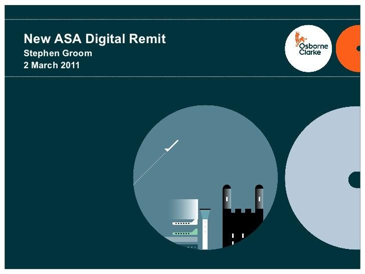 New ASA Digital Remit
