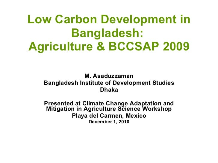 Asaduzzaman - Mitigation in Bangladesh