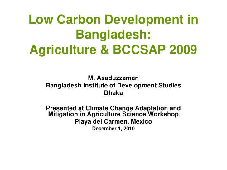 Asaduzzaman - Bangladesh mitigation
