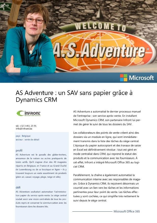 pays : Belgique secteur : vente de détail  profil  défi  Microsoft Office 365