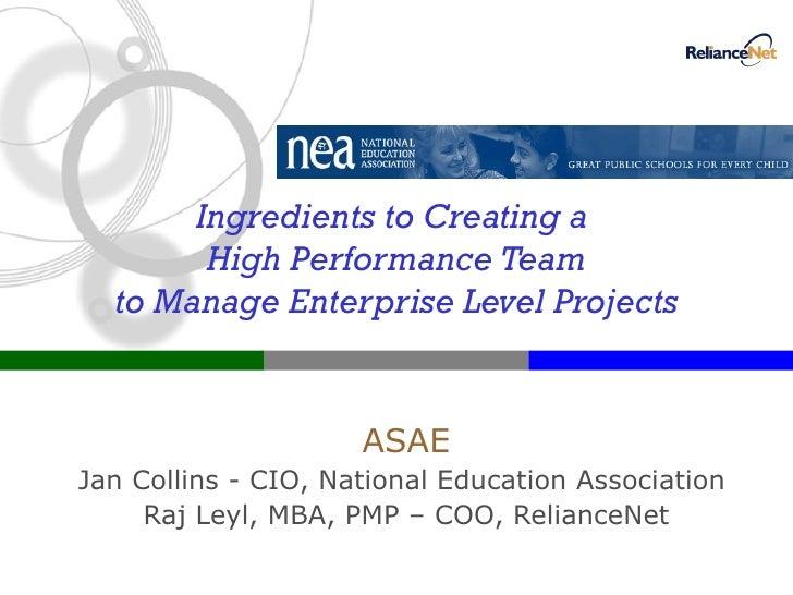 ASAE Presentation: Managing Enterprise Projects