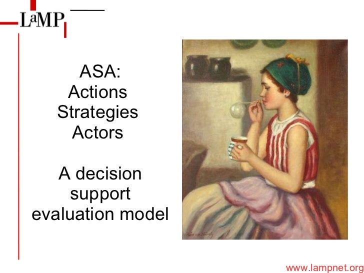 ASA: Actions  Strategies  Actors  A decision support evaluation model