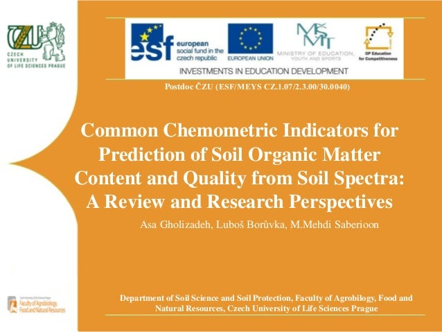Common indicators for Soil quality indicators