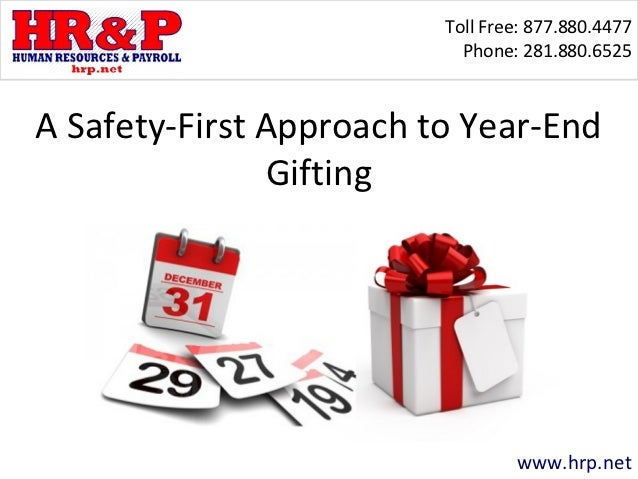 A Safety-First Approach to Year-End Gifting