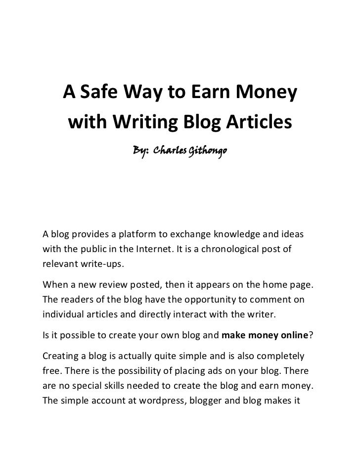 Want to earn money writing from home?