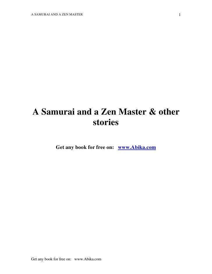 A SAMURAI AND A ZEN MASTER                             1     A Samurai and a Zen Master & other              stories      ...