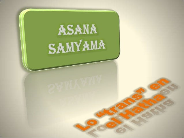 Asana samyama