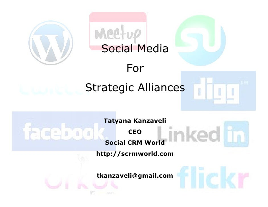 Social Media for Strategic Alliances