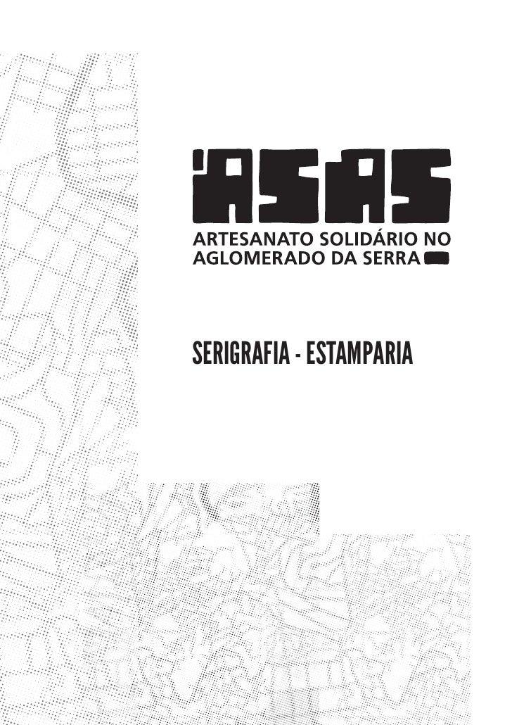 Apostila para aprendizado de técnicas de serigrafia