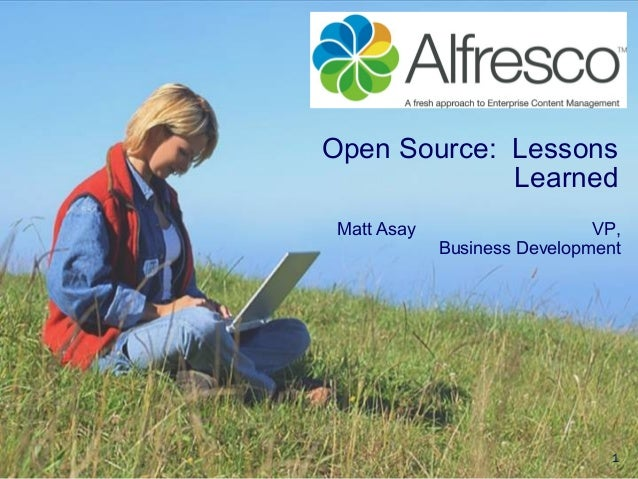 1Open Source: LessonsLearnedMatt Asay VP,Business Development