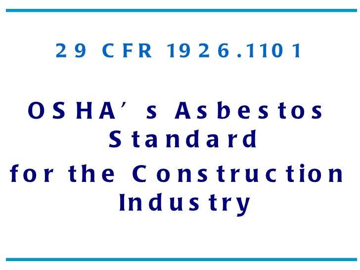 Asbestos std-122110
