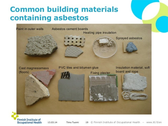 Exposure To Asbestos And Exposure Monitoring At Helsinki