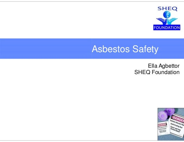 A Hand and Knife S | Drims#5 Asbestos Safetyy Ella Agbettor SHEQ F d tiSHEQ Foundation Safety | April 2010 5505437