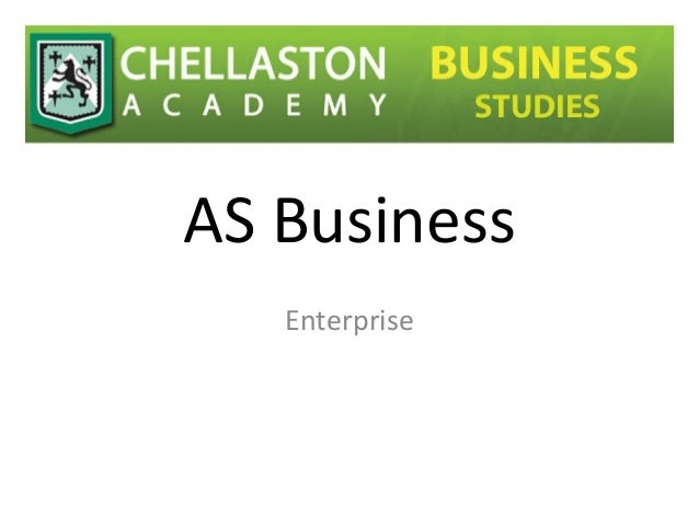 As business studies enterprise