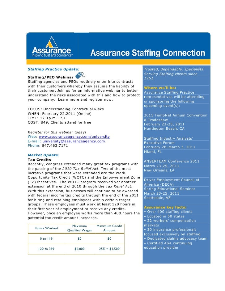 Staffing Practice Update:                                      Trusted, dependable, specialists.                          ...