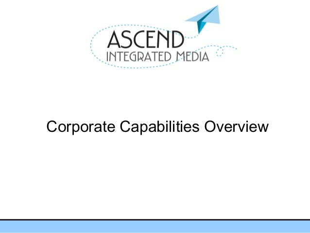 Corporate Capabilities Overview