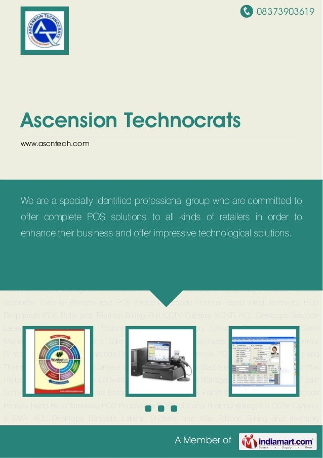 08373903619A Member ofAscension Technocratswww.ascntech.comBilling and Inventory Software POS Machines Salon Management So...