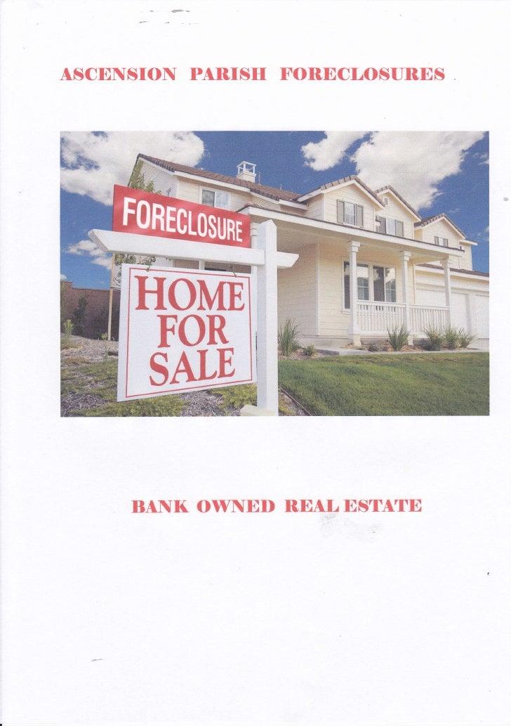 Ascension parish bank owned homes