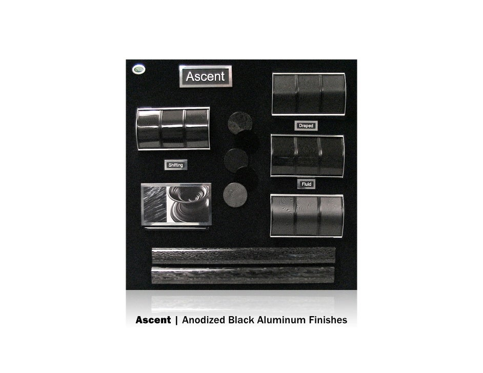 Ascent | Anodized Black Aluminum Finishes