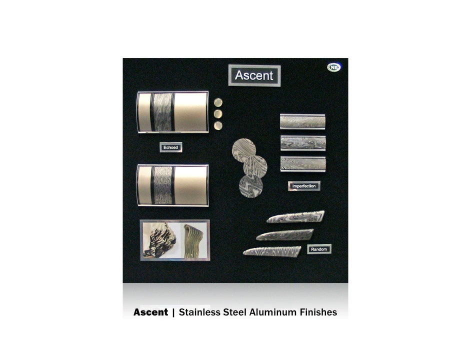 Ascent | Stainless Steel Aluminum Finish mood board