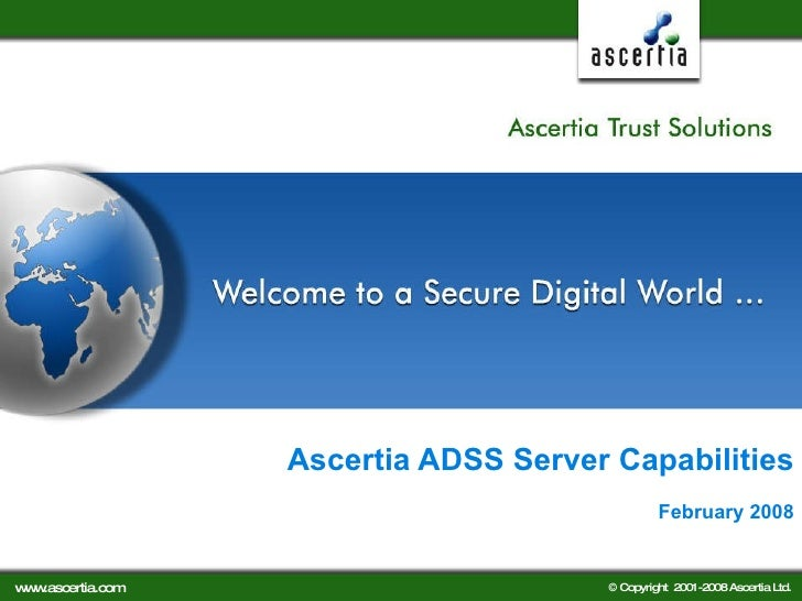 Ascertia Adss Server Capabilities