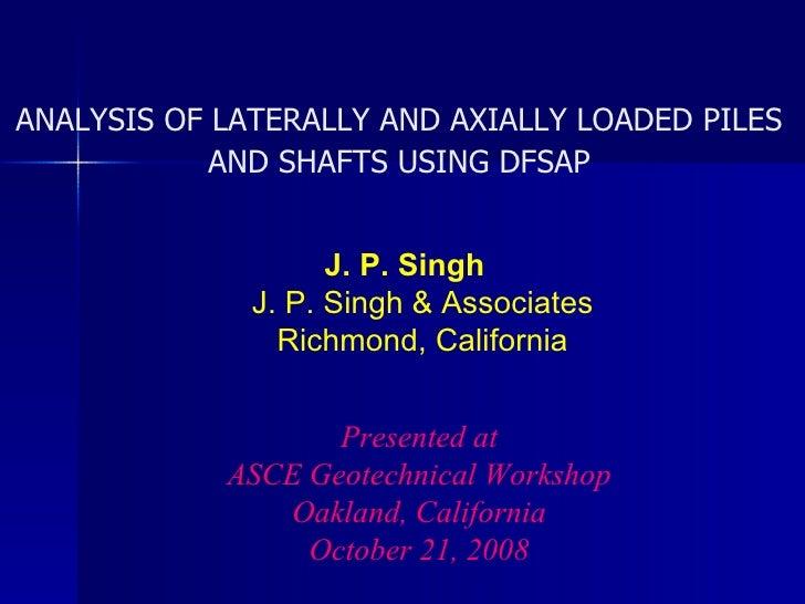 ASCE Workshop DFSAP Presentation