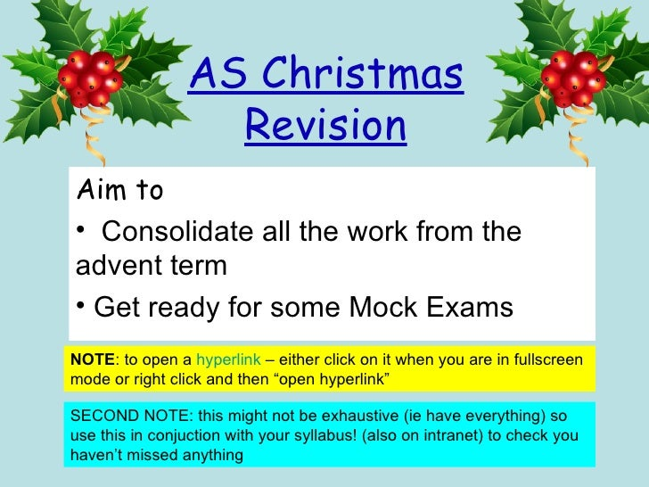As christmas revision3