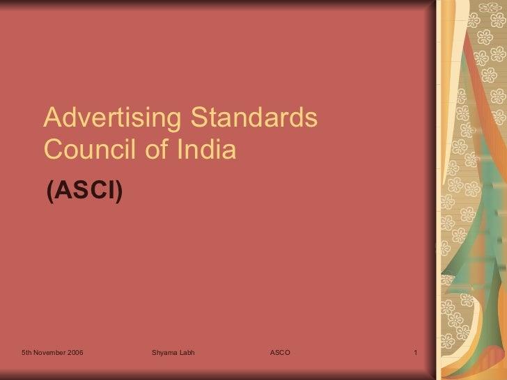 ASCI - Advertising