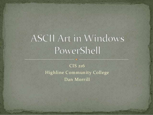 Ascii art in windows power shell