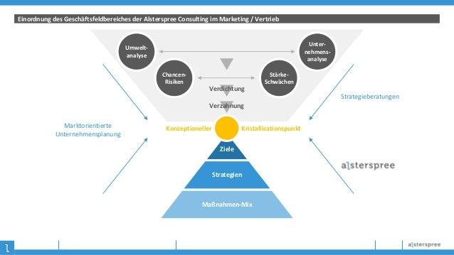 Einordnung des Geschäftsfeldbereiches der Alsterspree Consulting im Marketing / Vertrieb Ziele Strategien Maßnahmen-Mix Ko...