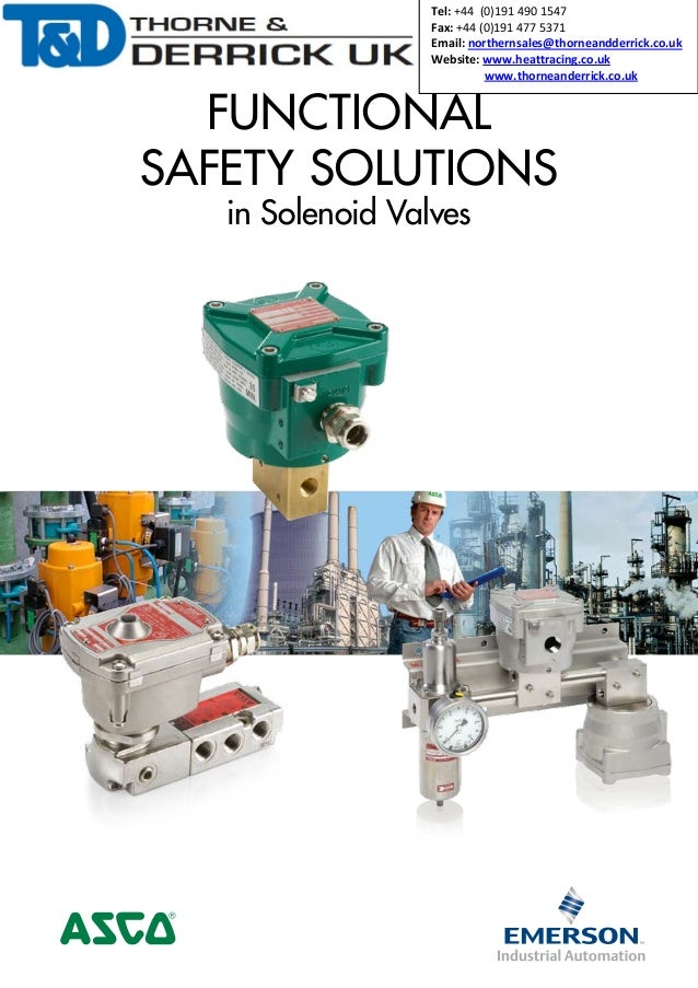Asco Hazardous Area Solenoid Valves - Sil 3 Functional-Safety