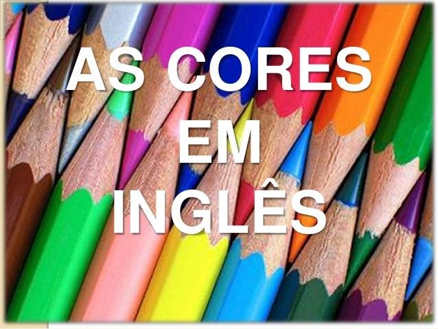 As cores em inglês